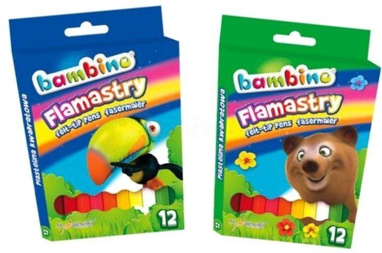 Bambino Flamastry 12 kolorów